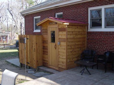 Outdoor Saunas Modular Outdoor Sauna With Cedar Siding
