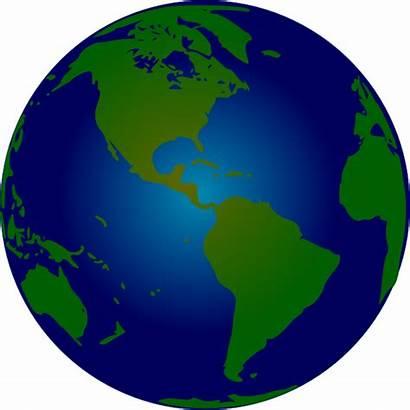 Globe Clip Clipart Earth Hemisphere Animated Southern
