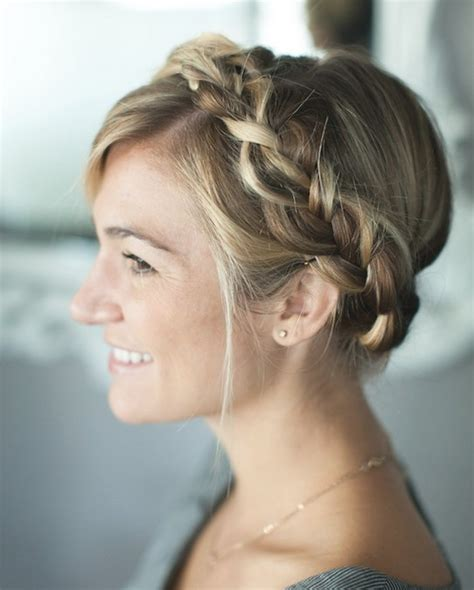 Braided Hairstyles For by Simple Braided Crown Hairstyle Tutorial And Easy