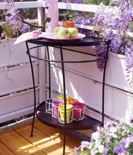 platzwunder tisch fuer schmale balkone bild  living