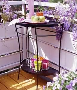 Kräuterspirale Für Balkon : platzwunder tisch f r schmale balkone bild 12 living ~ Michelbontemps.com Haus und Dekorationen