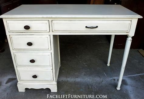 white distressed desk desks vanities painted glazed distressed facelift