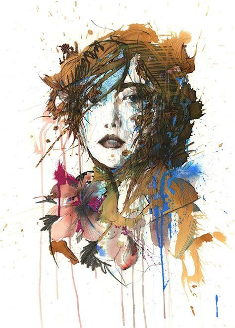 gorgeous artfully messy portraits   ink tea