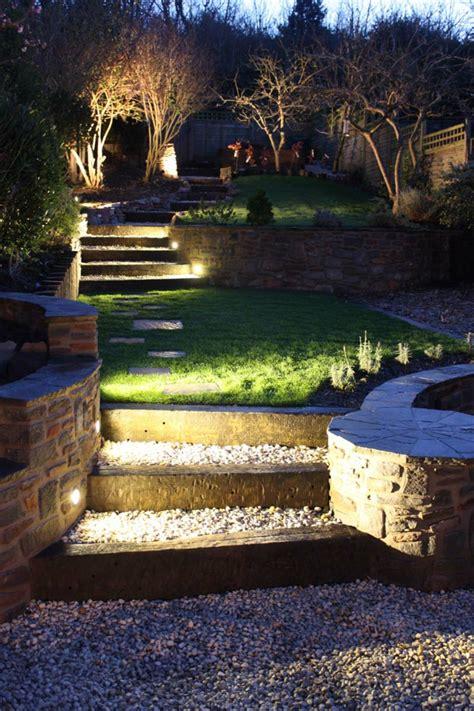 ls plus landscape lighting gartentreppe beleuchten und sie zum hingucker machen