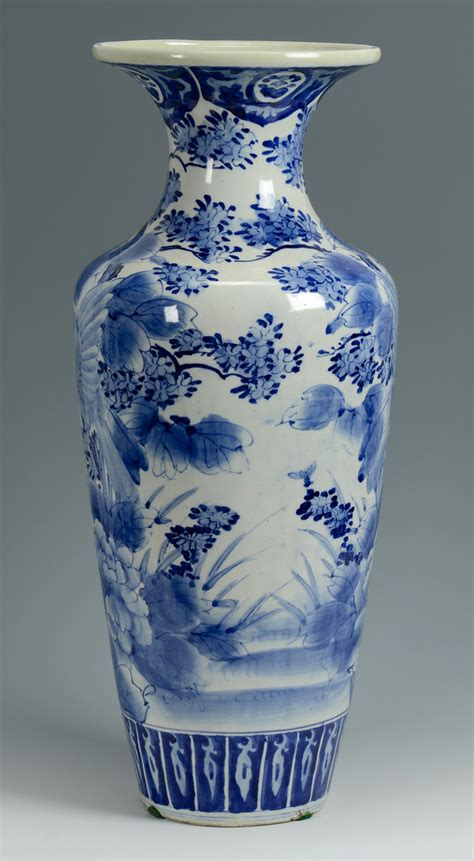 blue and white vase lot 776 japanese arita blue white floor vase