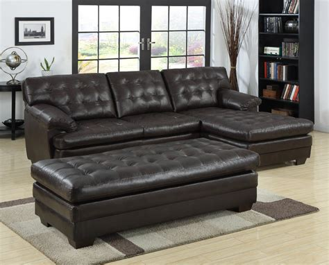 tufted sectional sofa with chaise black tufted leather sectional sofa with chaise and bench