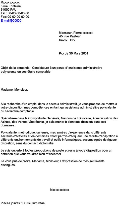 ebook lettre de motivation candidature spontanee secretaire comptable