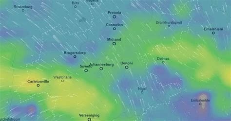 johannesburg weather incoming cold front mobilises