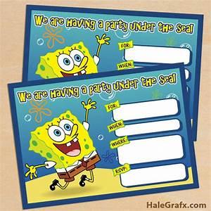free printable spongebob squarepants birthday invitation With spongebob party invitation templates