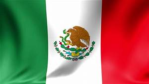 Mexican Flag Waving High Over Mexico Stock Footage Video ...