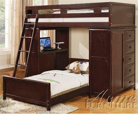 Pantone Nathan Bed Set dreamfurniture nathan espresso finish bunk bed set