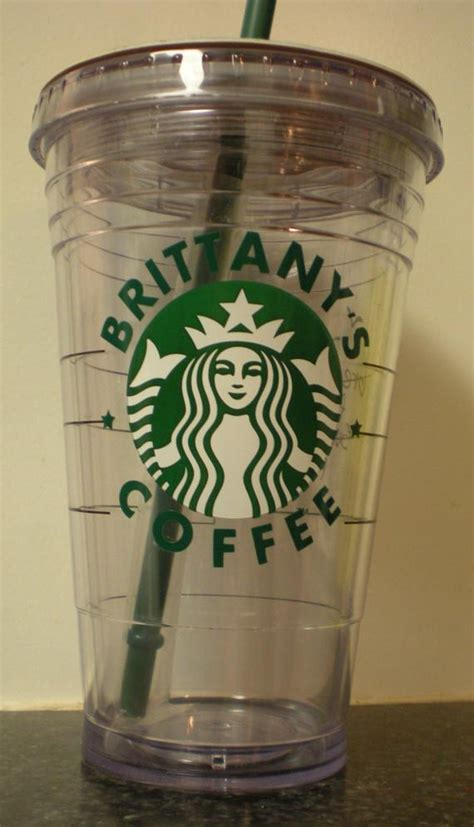 starbucks personalized plastic tumbler cup  straw cup