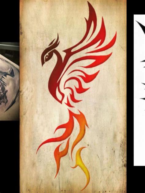 Tribal Phoenix  Tattoos Pinterest
