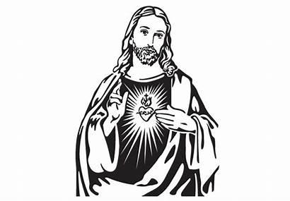 Jesus Christ Drawing Clipart Line Portrait Cliparts