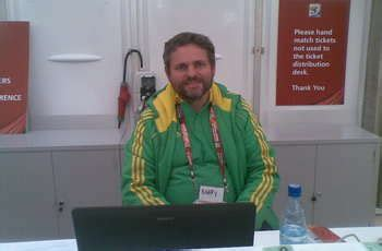 world cus help desk world cup comment fifa volunteers angels in green