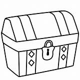 Treasure Chest Coloring Pages Printable Empty Closed Pirate Getcoloringpages sketch template