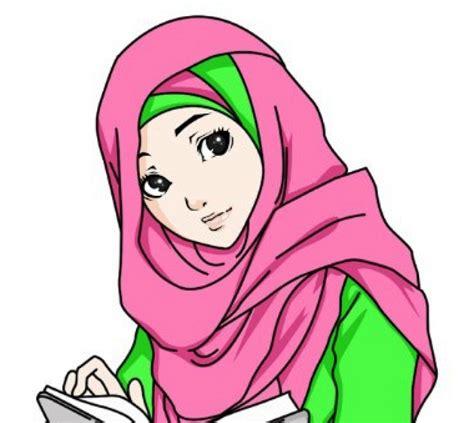 gambar foto kartun muslimah cantik top gambar