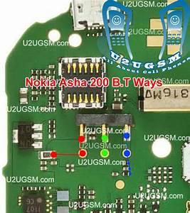 Nokia Asha 200 Battery Terminal Points Damage Ways Problem Solution
