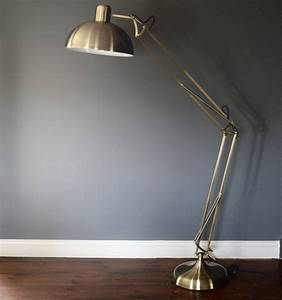 brushed gold floor lamp by the forest co With forest led floor lamp