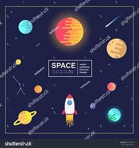 Vector Abstract Illustration Space Sun Moon Stock Vector ...