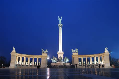 Filethe Millennium Monument In Heroes Square Budapest