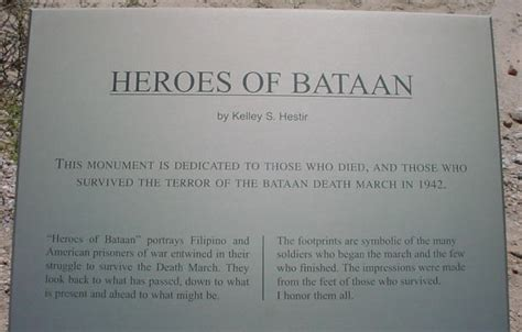 Heroes of Bataan Plaque Photo Gallery Page 5