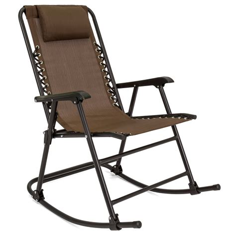 choice products folding rocking chair foldable rocker