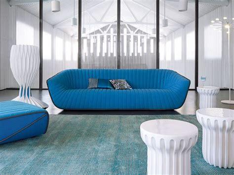 canapé 2 places roche bobois coquille bleue maisonapart