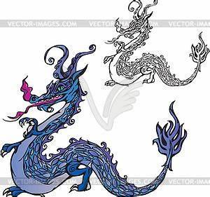 Drachen Schwarz Weiß : drachen farbe und schwarz wei bild vector clip art ~ Orissabook.com Haus und Dekorationen