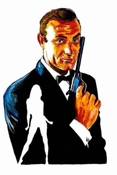 Bond James Drawing Wall Clipartmag