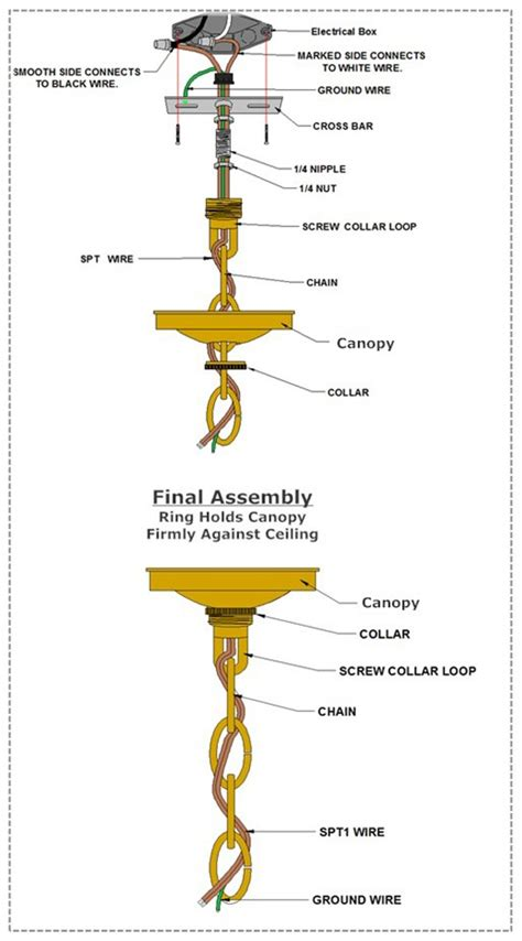 how to hang a chain hanging fixture canopy grand brass