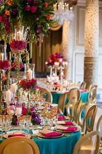 Reception Décor Photos - Multi-Colored, Vibrant Tablescape