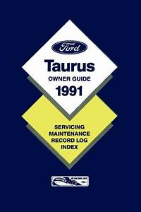 1991 Ford Taurus Owners Manual User Guide Reference