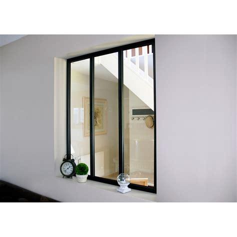 verriere interieure leroy merlin verri 232 re atelier aluminium noir vitrage non fourni h 1
