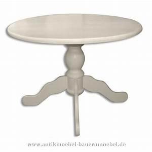 Tisch Rund Weiß : est 58 r esstisch tisch rund weiss massiv holz landhausstil ~ Markanthonyermac.com Haus und Dekorationen