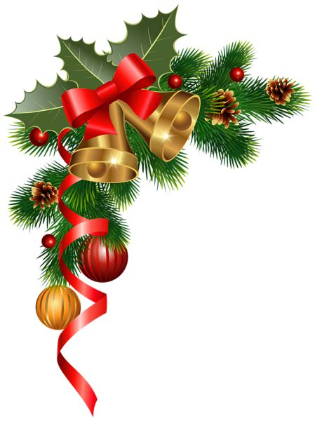christmas corner decoration png clipart image  year