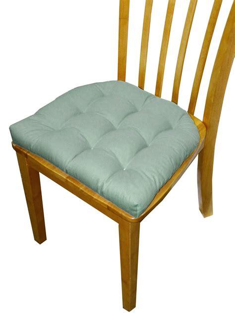 dining chair pad  ties  tack tufted  ranger aqua