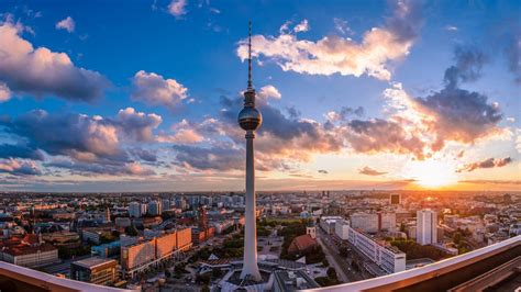 Tv Tower In Berlin Hd Wallpaper  Wallpaper Studio 10