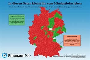 Billig Wohnen In Deutschland : diese karte zeigt wo ihr mit mindestlohn noch in deutschland wohnen k nnt finanzen100 ~ Eleganceandgraceweddings.com Haus und Dekorationen
