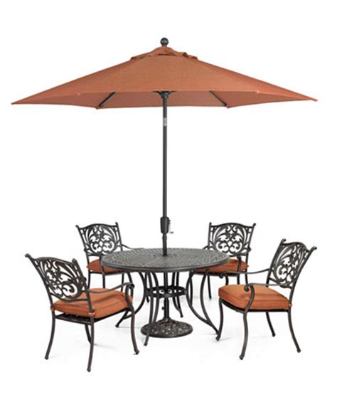 chateau outdoor cast aluminum 5 pc set 48 quot dining