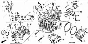 Honda Motorcycle 2008 Oem Parts Diagram For Cylinder Head