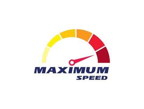 Illustration with transport company logo. Dashboard, device, speed, test, internet Logo Design. Blue ...