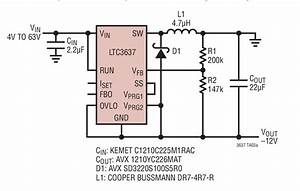 Ltc3637 4v To 64v Input To  U201312v Output Positive