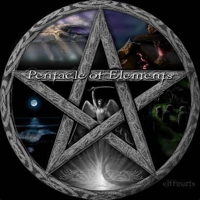Pentacle Wiccan Elements Wicca Pentagram Pagan Wallpapers
