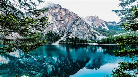 Pragser Wildsee (lake Braies, Italy) 4k Ultrahd Wallpaper