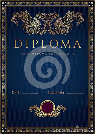 blue diploma certificate background  border royalty