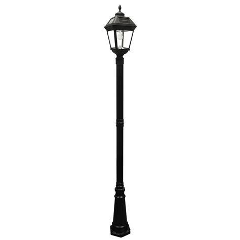 solar led outdoor l post gama sonic imperial bulb series single black integrated