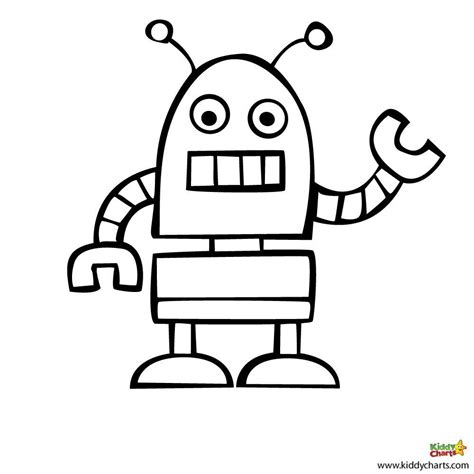 robot coloring pages beep beep