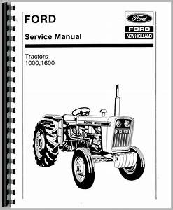Ford 1000 Tractor Service Manual