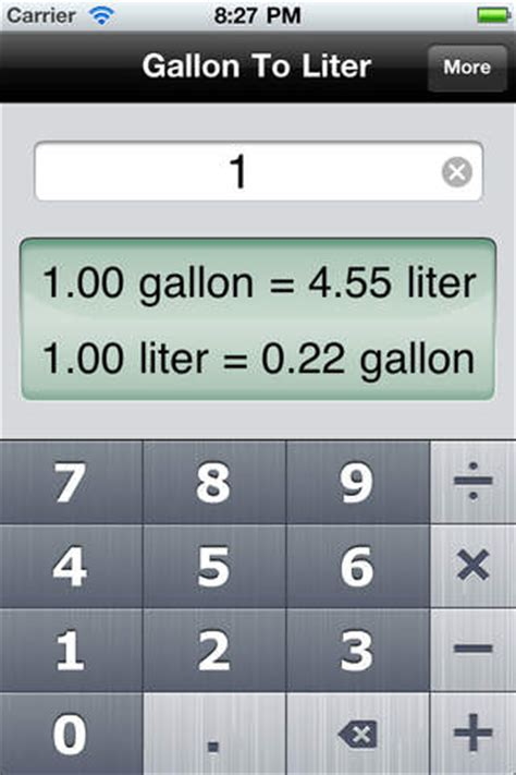 gallon to liter the fastest volume converter on the app store on itunes